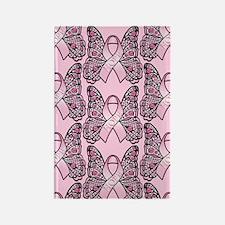 PinkHopeBflyPp443iph Rectangle Magnet
