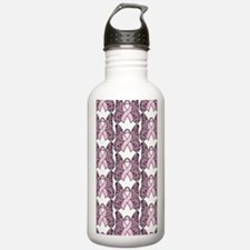 PinkHopeBflyP441iph Water Bottle