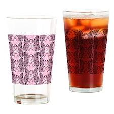 PinkHopeBflyPpsq Drinking Glass