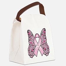 PinkHopeButterflyWsTR Canvas Lunch Bag