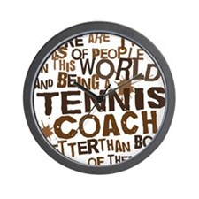 tenniscoachbrown Wall Clock