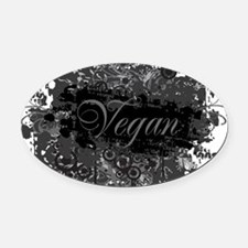 vegan-04 Oval Car Magnet