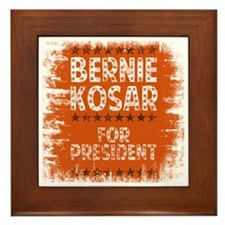 bernie for pres - tee Framed Tile