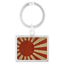 jap flag two PNG Landscape Keychain