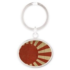 jap flag two PNG Oval Keychain