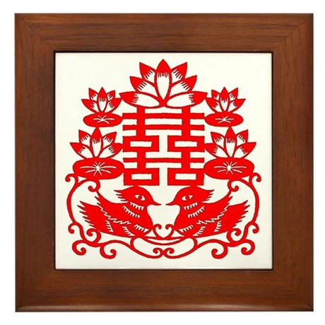 """""""Double Happiness"""" Framed Tile"""