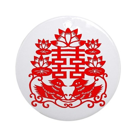 """Double Happiness"" Ornament (Round)"