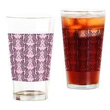 PinkHopeBflyPPFlipFl Drinking Glass