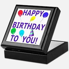 Shot Glass Happy Birthday To You Keepsake Box