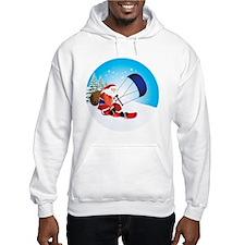 Santa Snowkite Snowboard Hoodie