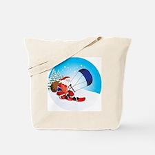 Santa Snowkite Snowboard Tote Bag