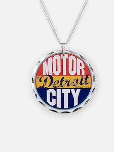 Detroit Vintage Label W Necklace