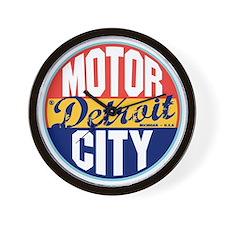 Detroit Vintage Label W Wall Clock