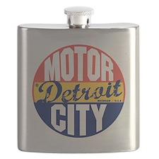 Detroit Vintage Label B Flask