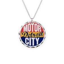 Detroit Vintage Label B Necklace