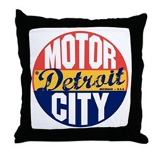 Detroit Vintage Label B Throw Pillow