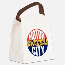 Detroit Vintage Label B Canvas Lunch Bag
