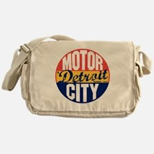 Detroit Vintage Label B Messenger Bag