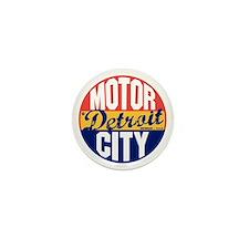 Detroit Vintage Label B Mini Button