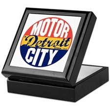 Detroit Vintage Label B Keepsake Box