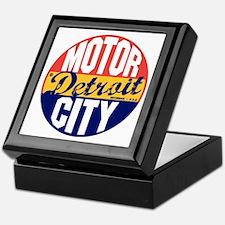 Detroit Vintage Label B Keepsake Box