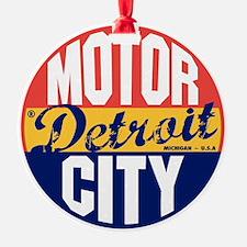 Detroit Vintage Label B Ornament