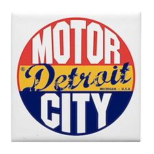 Detroit Vintage Label B Tile Coaster