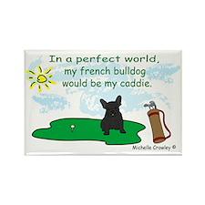 FrenchBulldogBlk Rectangle Magnet