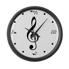 blk_wht_lrg_clk Large Wall Clock