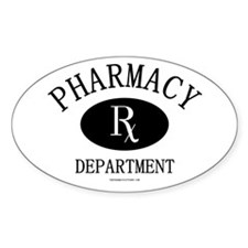 Pharmacy Department Oval Decal