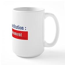 U.S. Constitution...A Dying Document Mug