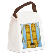 9x12_print C P Gold Twin Towers l Canvas Lunch Bag