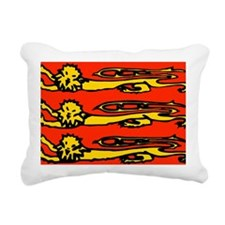 Three lions Rectangular Canvas Pillow
