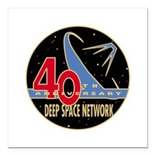 "DSN at 40! Square Car Magnet 3"" x 3"""