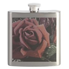 Rose Painting Flask