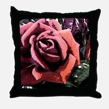 Rose Painting Throw Pillow
