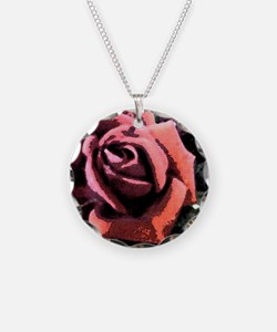 Rose Painting Necklace
