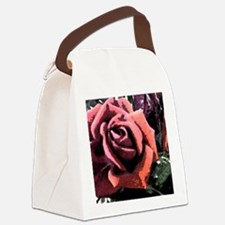 Rose Painting Canvas Lunch Bag