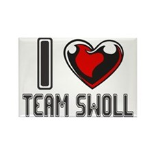 I LOVE TEAM SWOLL Rectangle Magnet