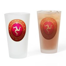 isle of man shield png Drinking Glass