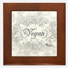 vegan-blanc-05 Framed Tile