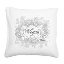 vegan-blanc-05 Square Canvas Pillow