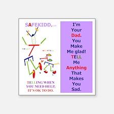 "Glad Dad TI. WT. Square Sticker 3"" x 3"""