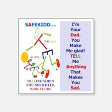 "Glad Dad TY. WT. Square Sticker 3"" x 3"""