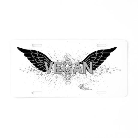 vegan-06 Aluminum License Plate
