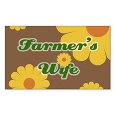 Farmer's Wife Rectangle Decal