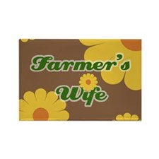 Farmer's Wife Rectangle Magnet