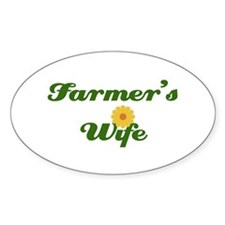 Farmer's Wife Oval Decal