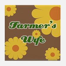 Farmer's Wife Tile Coaster