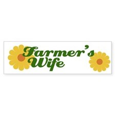 Farmer's Wife Bumper Car Sticker